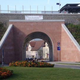 Neue Eisenbahnbrücke in Nagold